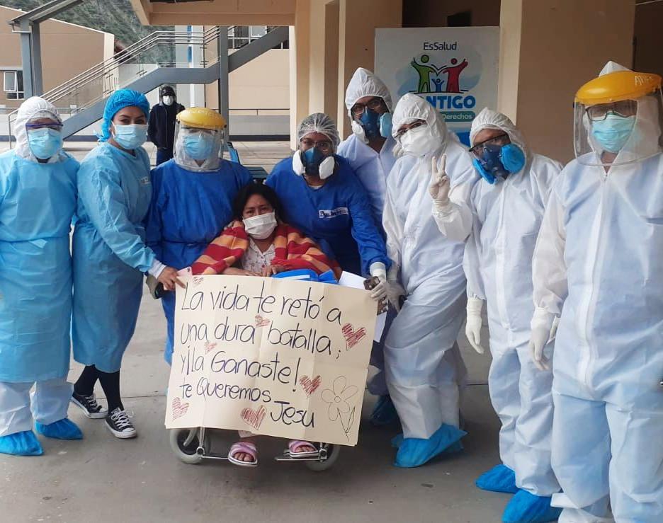 Essalud - EsSalud Apurímac: madre de 45 años vence a la Covid-19 tras permanecer casi un mes en UCI del Hospital II Abancay