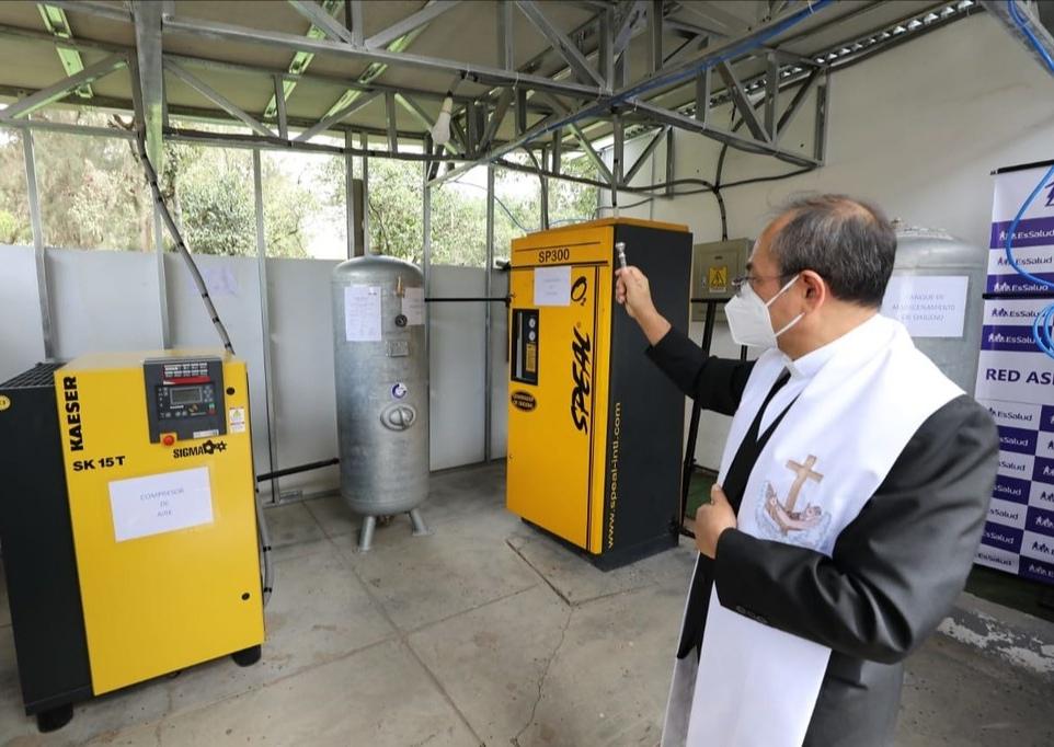 Essalud - EsSalud pone en funcionamiento planta de oxígeno medicinal para pacientes Covid-19 en Villa Huánuco