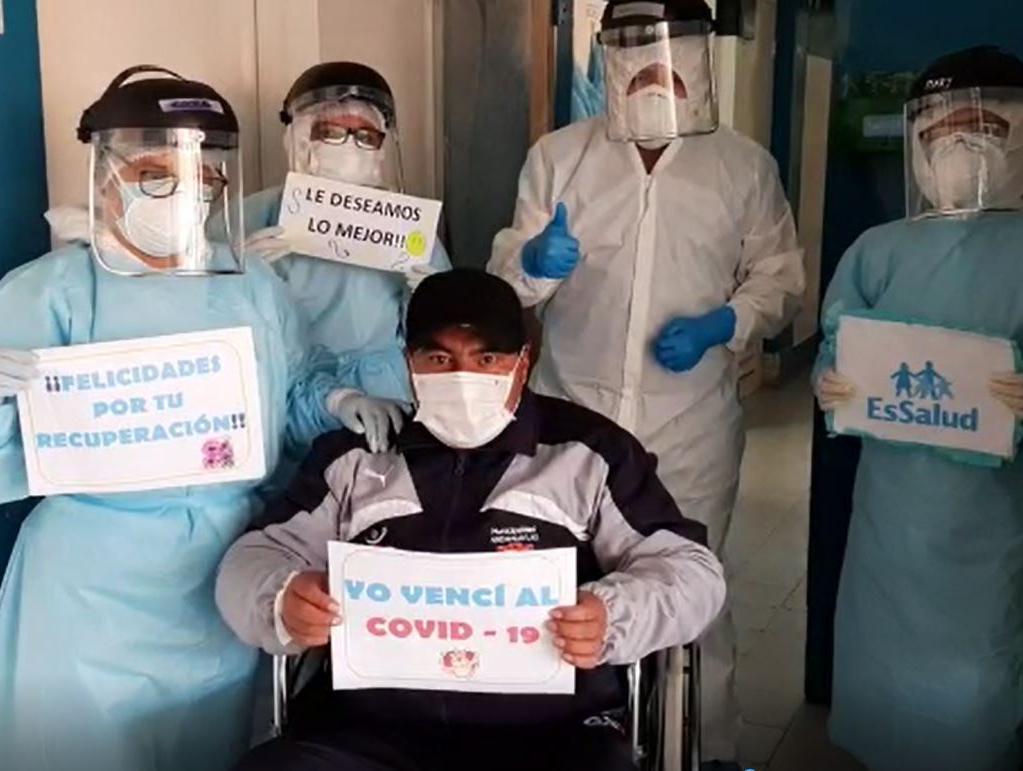 Essalud - EsSalud Apurímac: trabajador municipal vence a la Covid-19 en Hospital I Santa Margarita de Andahuaylas