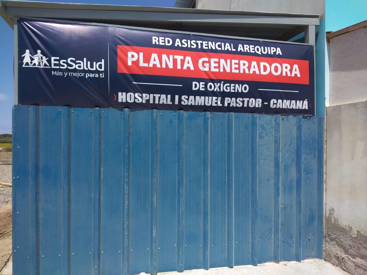 Essalud - EsSalud Arequipa pone en funcionamiento planta generadora de oxígeno en Hospital I Samuel Pastor de Camaná