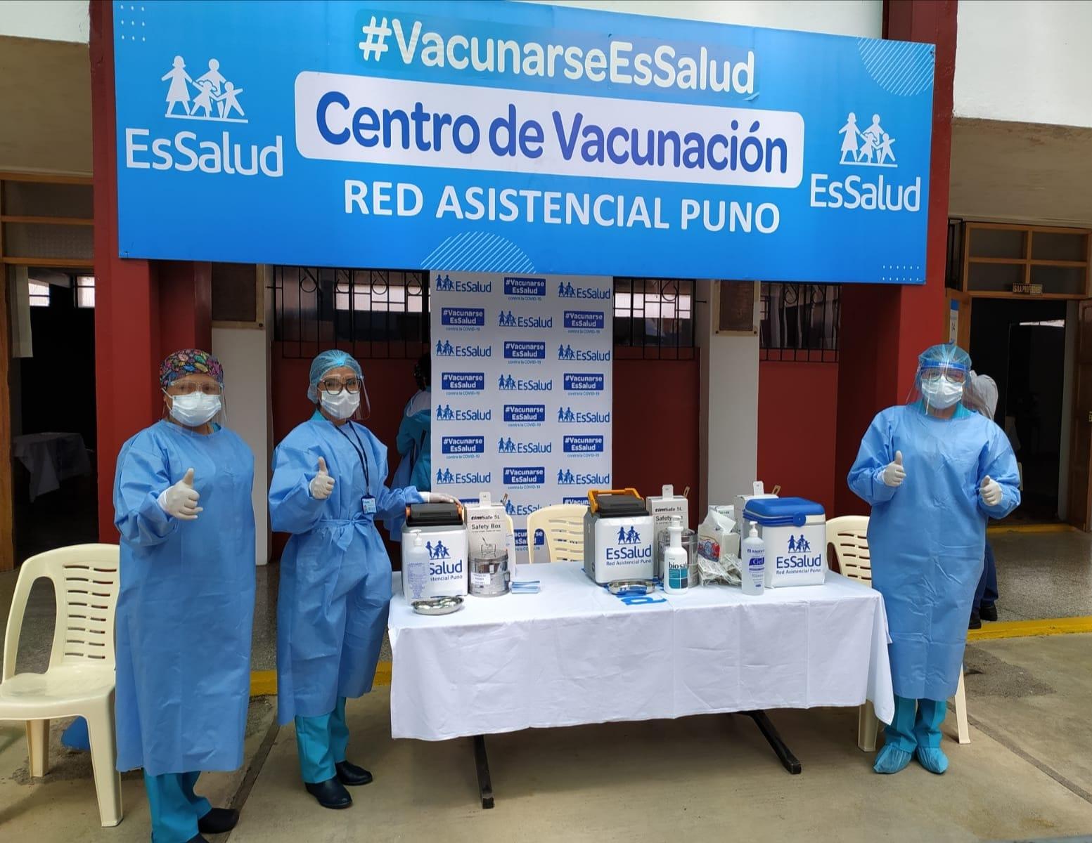 Essalud - EsSalud Puno inició la jornada de vacunación contra Covid-19