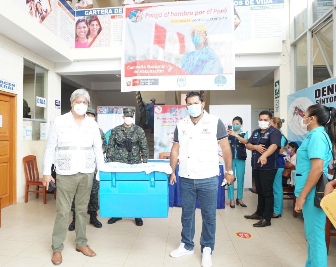 Essalud - EsSalud Ucayali inició la jornada de vacunación contra la Covid-19