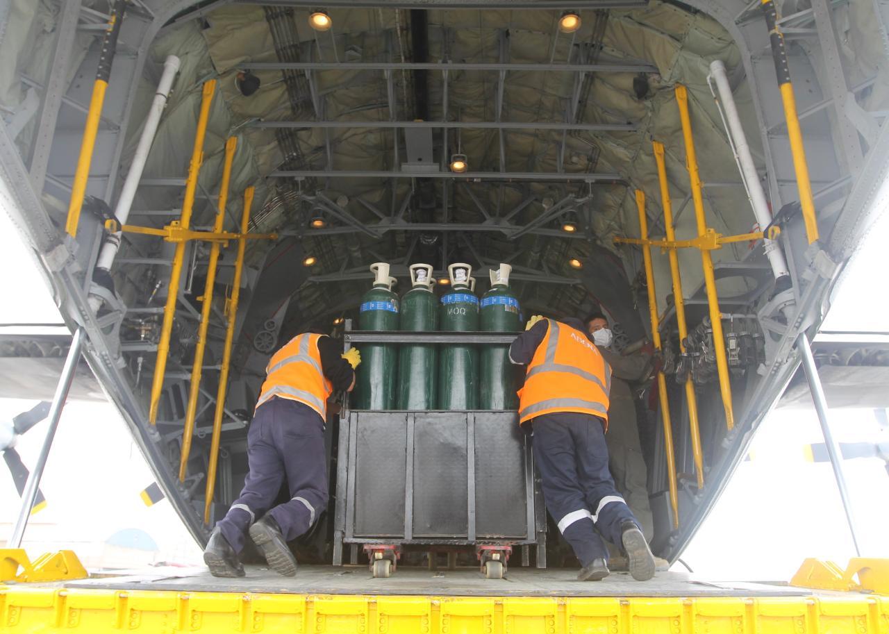 Essalud - EsSalud Loreto recibió 130 balones de oxígeno medicinal para reforzar las atenciones a pacientes críticos por Covid-19