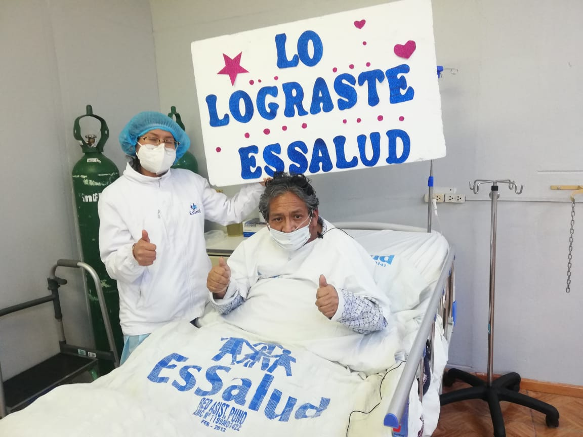 Essalud - EsSalud Puno: paciente de 70 años salió de UCI tras superar la Covid-19