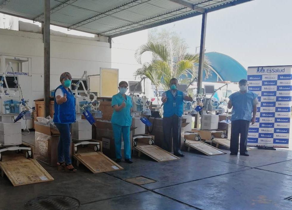 Essalud - EsSalud Ica recibe seis ventiladores mecánicos para reforzar la lucha contra la Covid-19