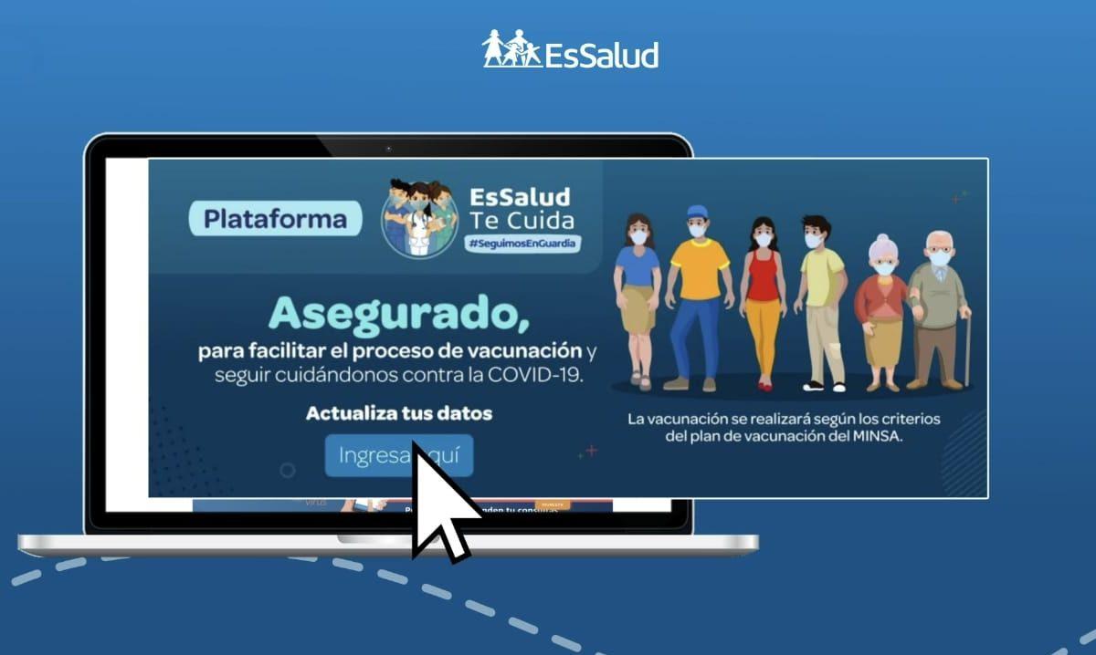 Essalud - EsSalud: Conozca la plataforma   de actualización de datos para la vacunación contra el COVID 19