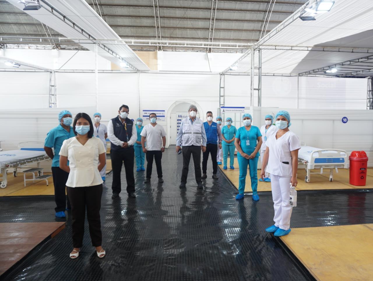 Essalud - EsSalud Ucayali amplía Centro de Atención Temporal de Rehabilitación Covid-19