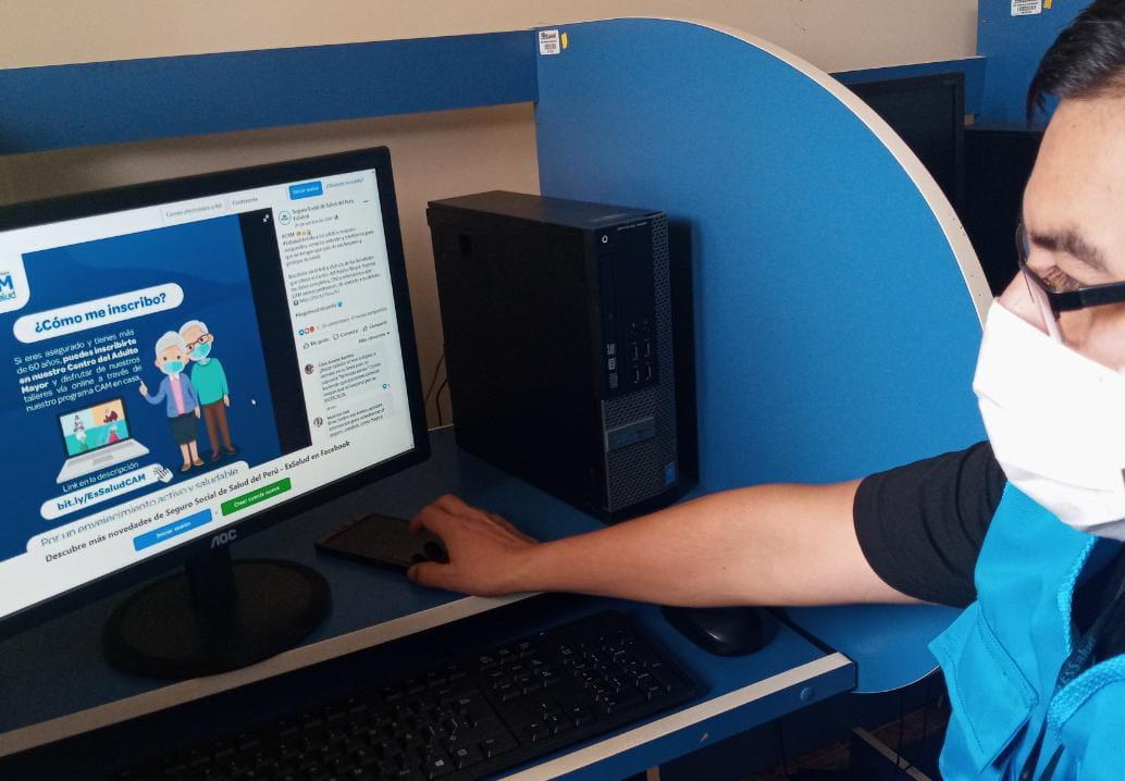 Essalud - EsSalud Lambayeque realiza talleres virtuales y monitoreo a los asegurados adultos mayores durante la pandemia