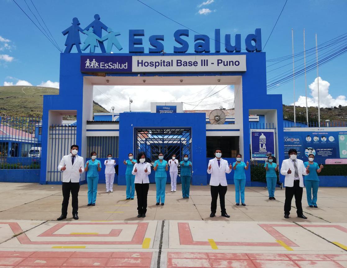 Essalud - EsSalud Puno incorporó a más de 100 profesionales de la salud para la atención de pacientes Covid-19