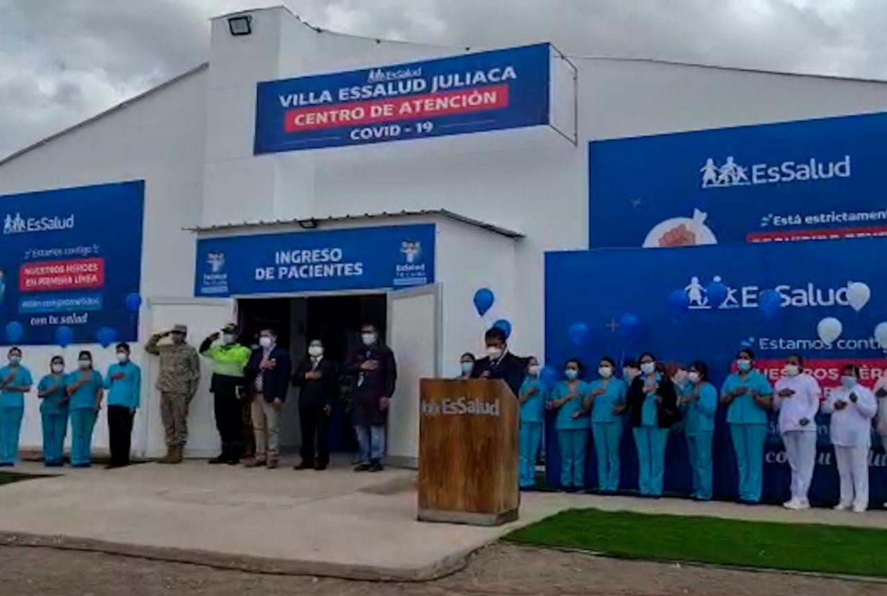 Essalud - EsSalud: Villa Juliaca entra en funcionamiento para atención a más pacientes leves y moderados por Covid-19