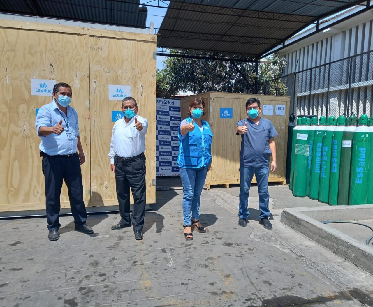 Essalud - Nueva planta de oxígeno medicinal abastecerá con este insumo al Hospital Félix Torrealva y a la Villa EsSalud Ica