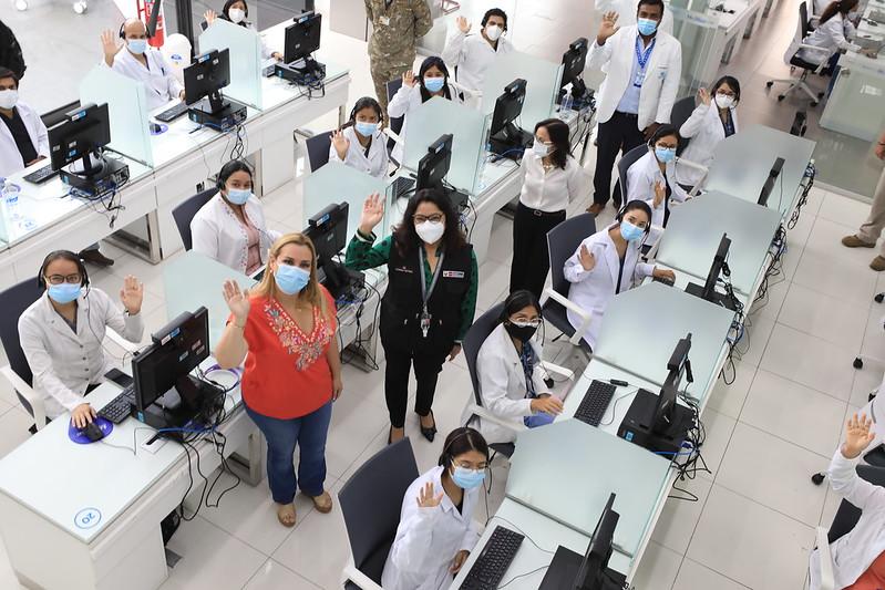 Premier y presidenta de EsSalud supervisaron Centro Nacional de Telemedicina que atiende más de 100 mil consultas médicas al mes de manera virtual