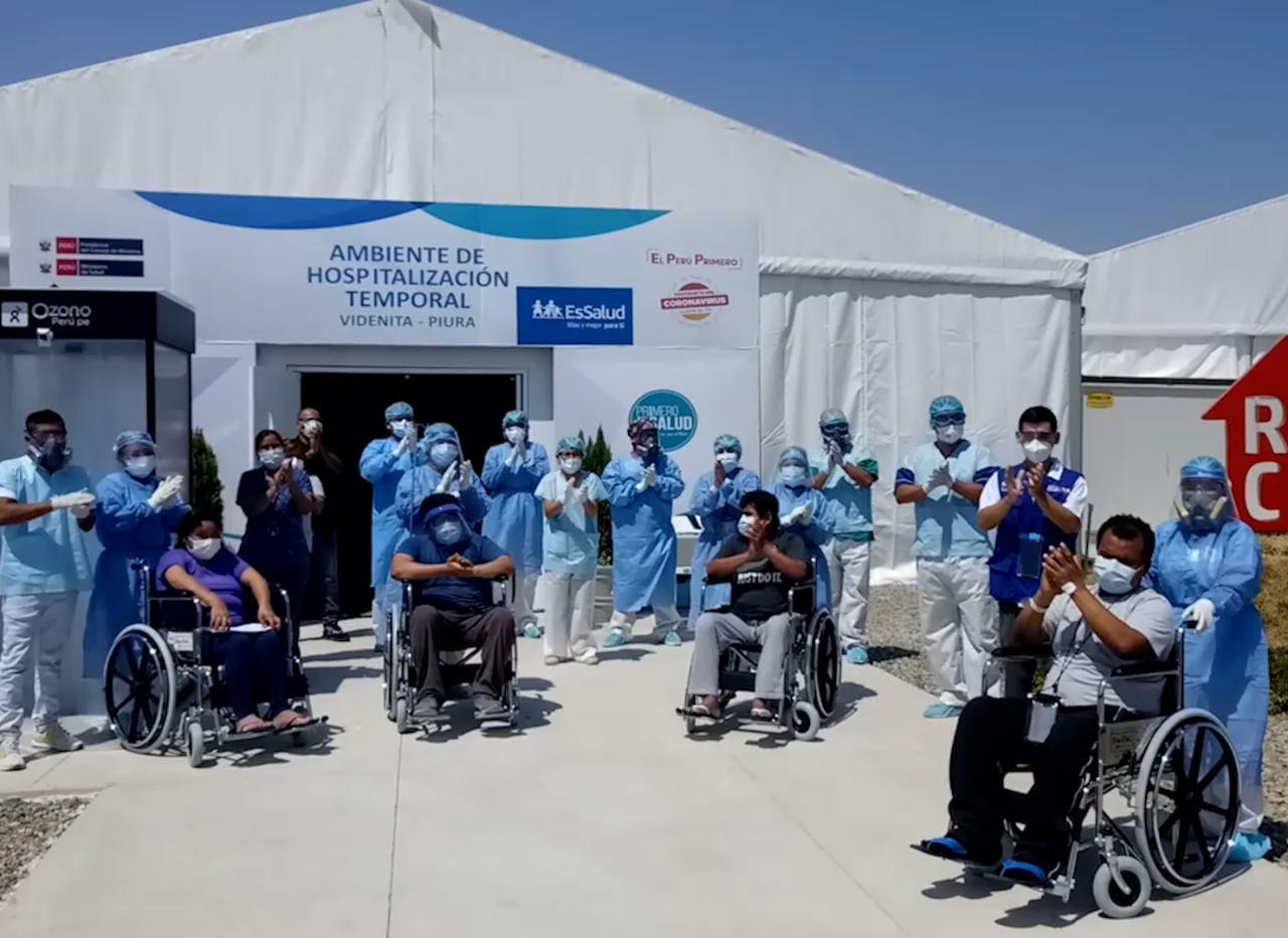 Cerca de 6 mil pacientes vencedores de la Covid-19 en hospitales de EsSalud Piura se reincorporaron a sus centros laborales