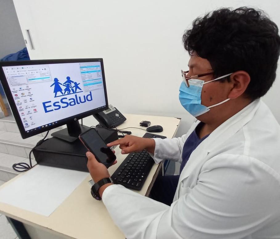 Essalud - EsSalud Moquegua atendió a más de 56 mil pacientes No Covid-19 por teleconsulta durante el primer trimestre de este año