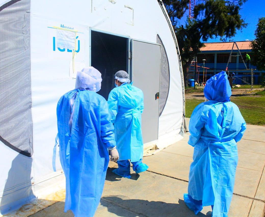 Essalud - Equipo de gestión de la Red Asistencial Huaraz de EsSalud supervisa áreas de hospitalización Covid-19