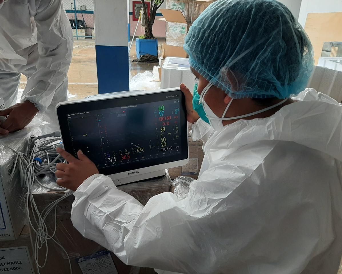 Essalud - EsSalud Loreto refuerza atención de pacientes Covid-19 con nuevos monitores de 8 parámetros