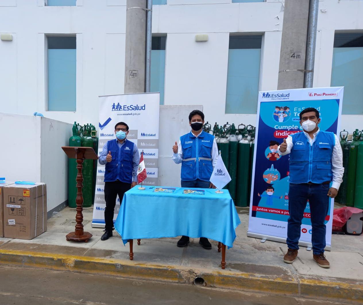 EsSalud Amazonas recibe concentradores de oxígeno para pacientes hospitalizados por Covid-19