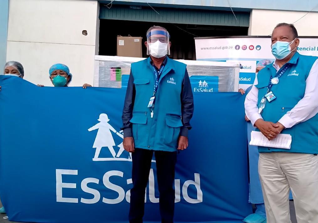 Essalud - EsSalud Lambayeque recibió planta de oxígeno para el Hospital I Chepén