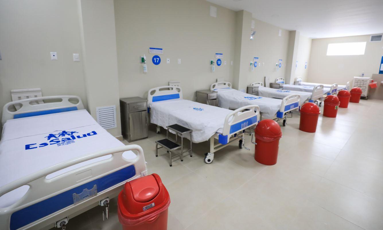 Essalud - EsSalud amplía camas hospitalarias para pacientes COVID-19 en Hospital San Isidro Labrador