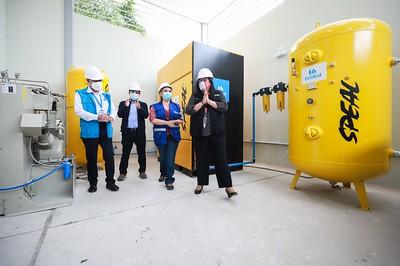 Essalud - Fiorella Molinelli puso hoy en funcionamiento planta de oxígeno para pacientes Covid-19 en hospitales EsSalud de Lambayeque