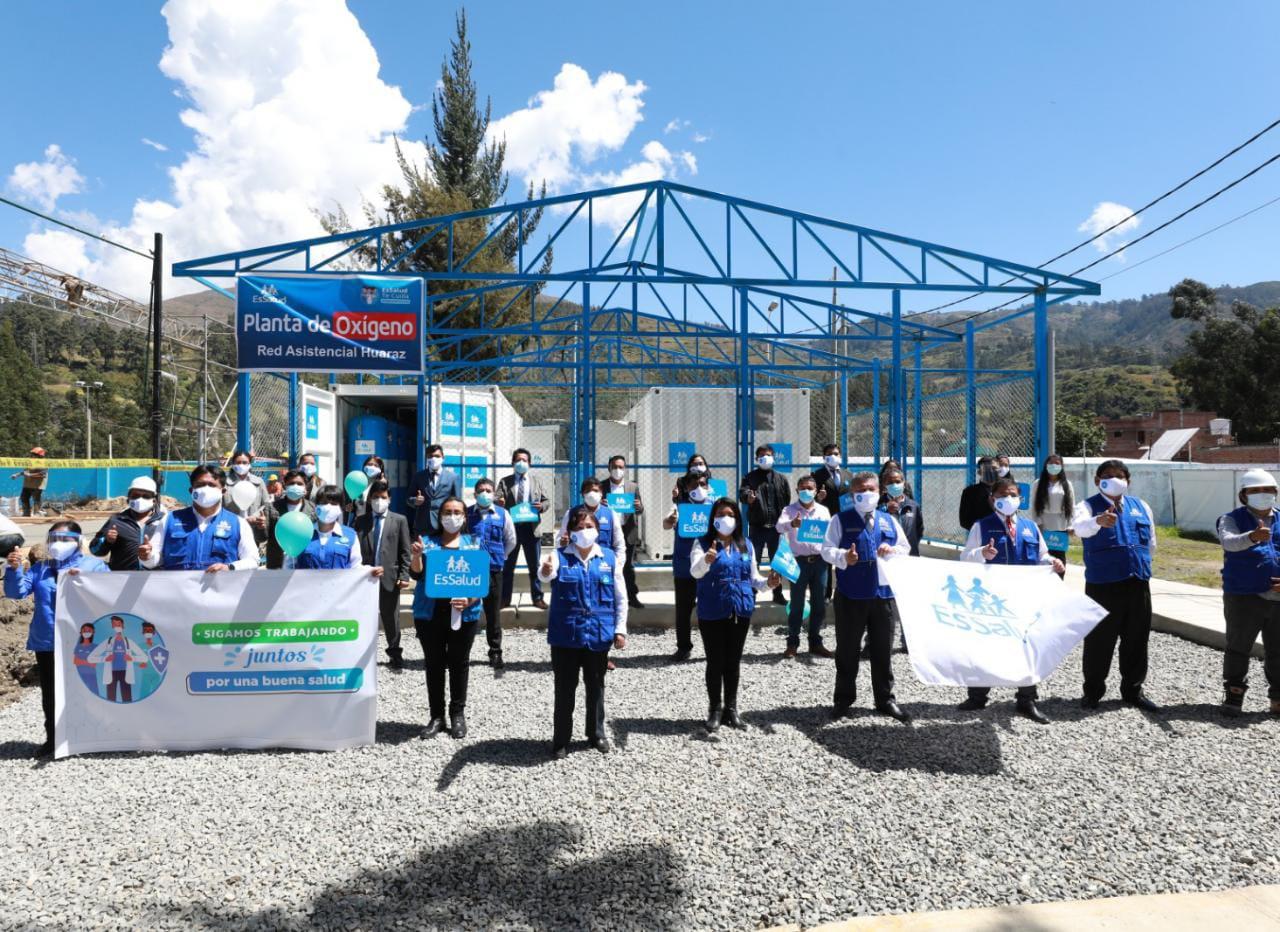 Essalud - EsSalud puso hoy en funcionamiento 2 plantas de oxígeno en Huaraz para redoblar atención de pacientes Covid-19