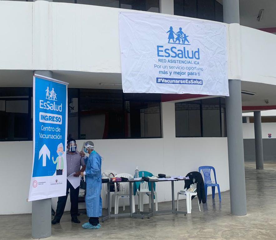 Essalud - EsSalud Ica inició proceso de vacunación en la provincia de Chincha