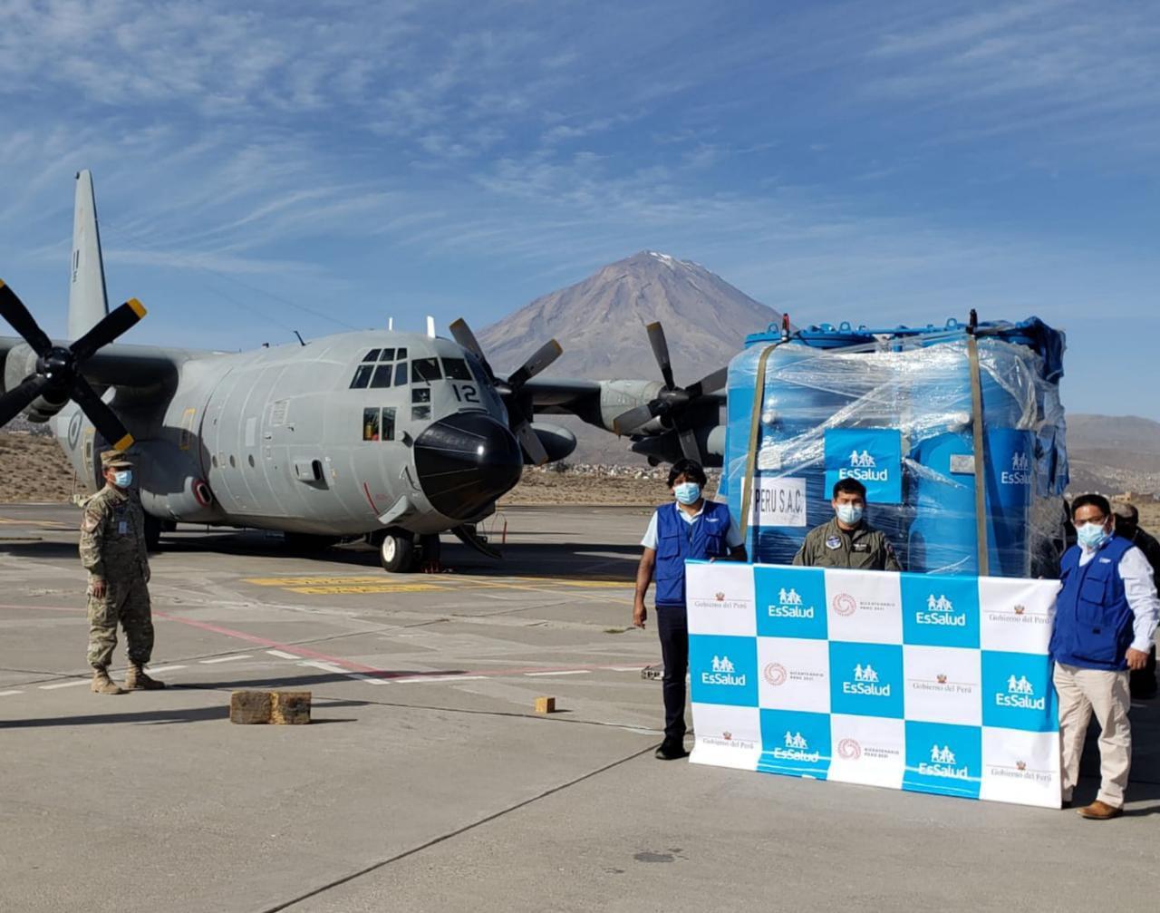 Essalud - EsSalud envía a Arequipa planta generadora de oxígeno para reforzar la lucha contra la Covid-19