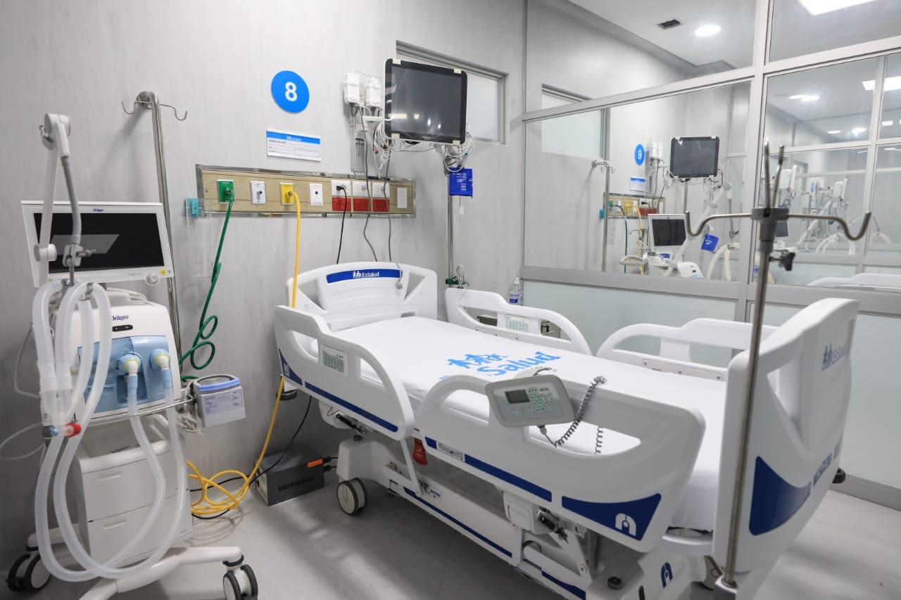 Essalud - EsSalud amplía camas UCI y UCIN en hospital Negreiros y pone en funcionamiento planta de oxígeno para pacientes COVID-19