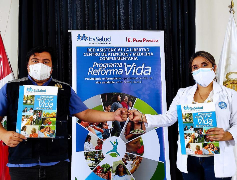 Essalud - EsSalud La Libertad firma alianza estratégica con el Instituto de Medicina Legal y Ciencias Forenses para brindar atención de prevención de enfermedades crónicas en colaboradores