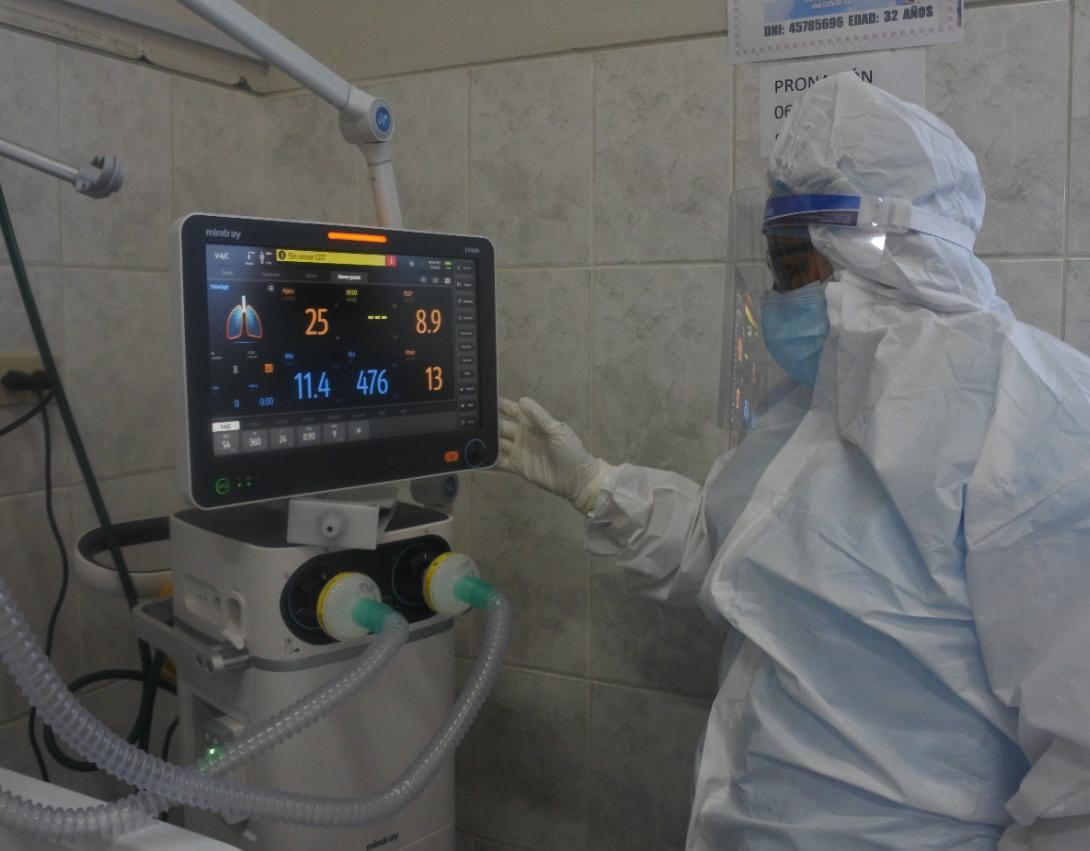 Essalud - EsSalud envió a Huaraz ventiladores mecánicos para redoblar la atención de pacientes Covid-19