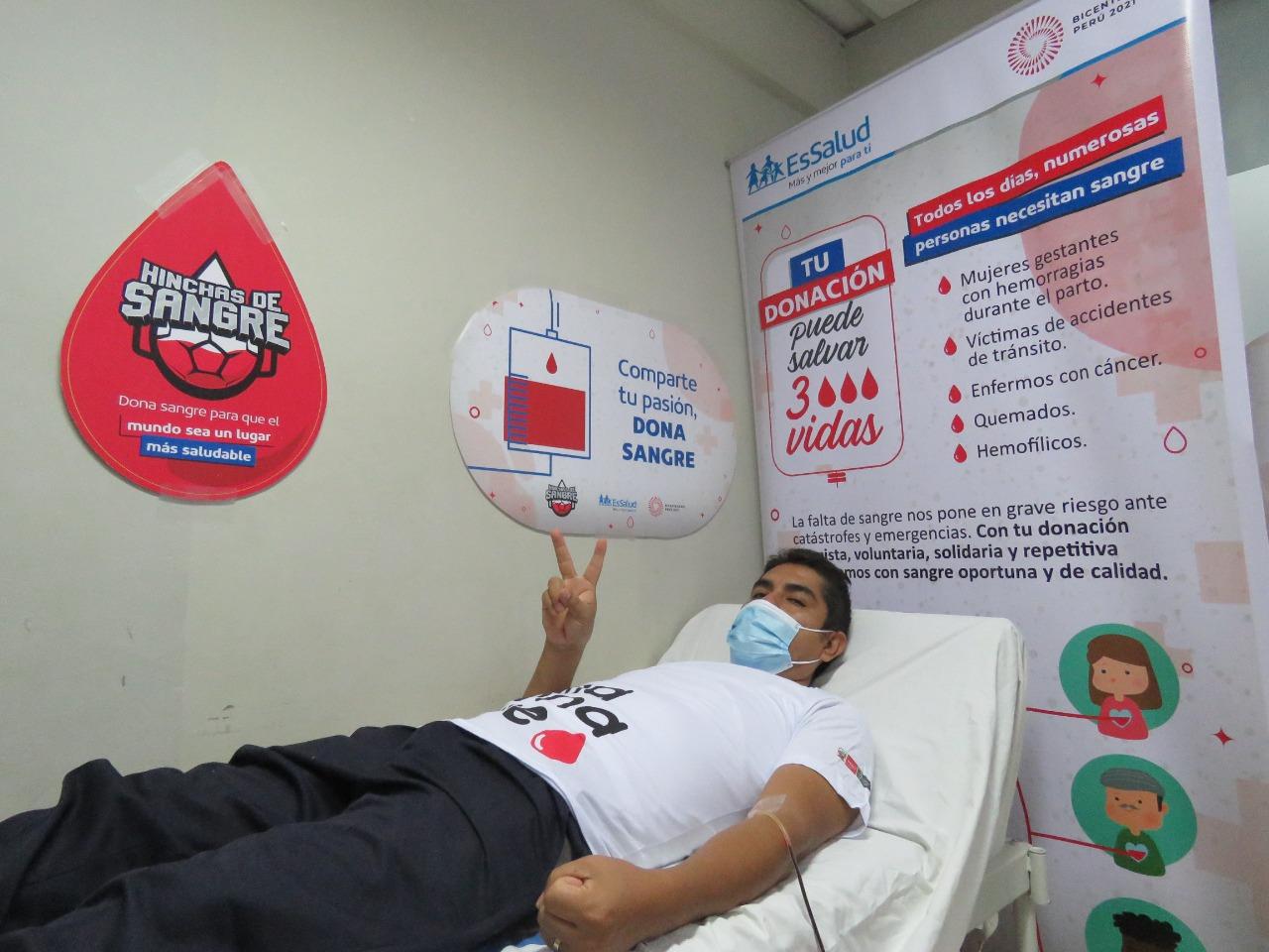 Essalud - EsSalud Cusco organizó campaña de concientización de donación de sangre