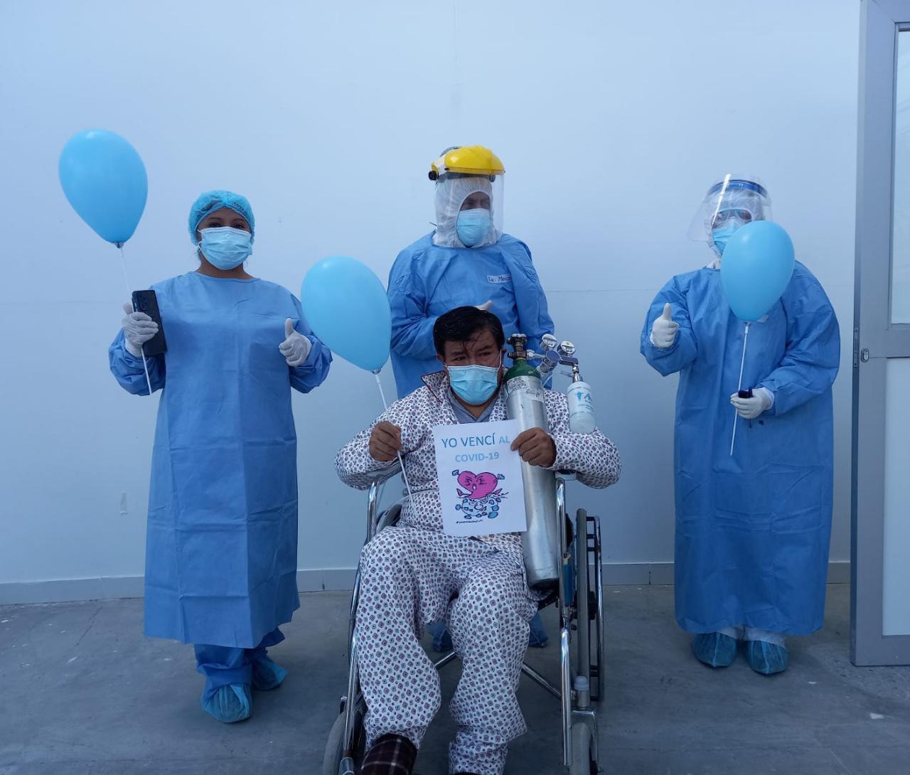 Essalud - Villa Huaraz de EsSalud da de alta a más de 20 pacientes diagnosticados con Covid-19 a dos semanas de su inauguración