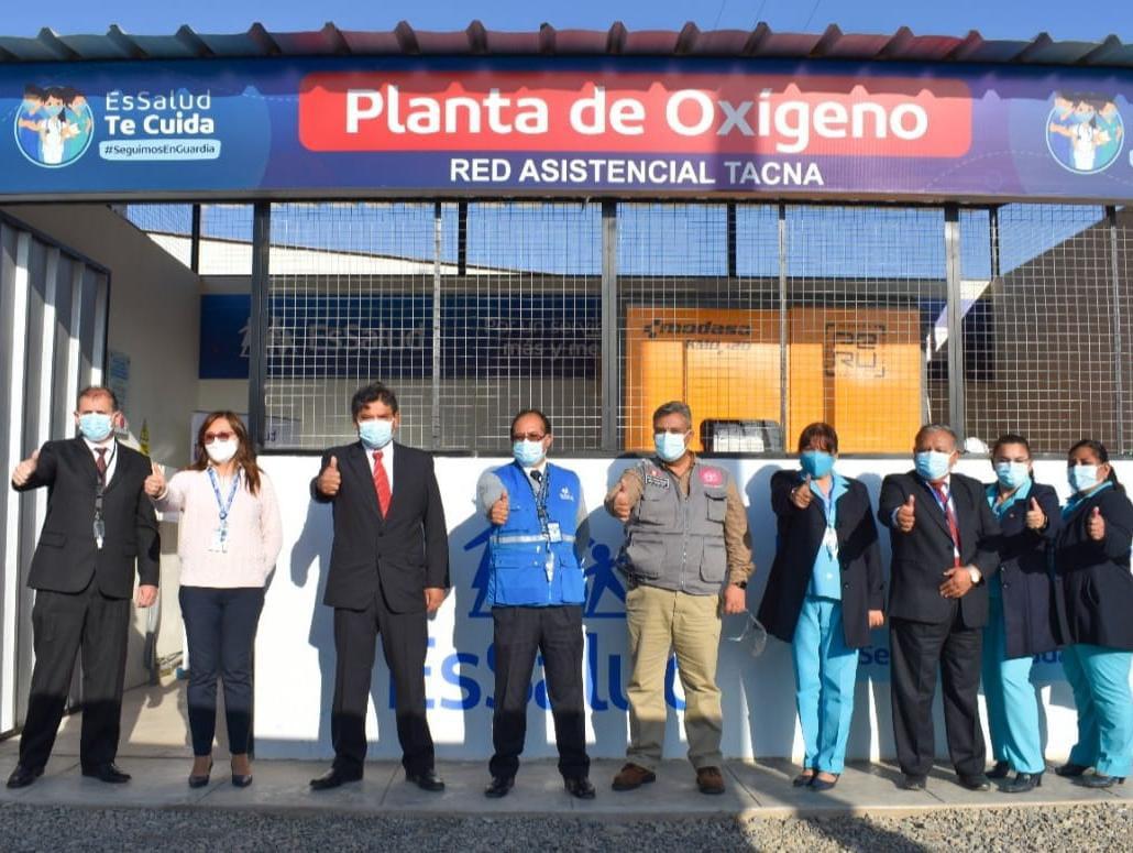 EsSalud Tacna pone en funcionamiento planta de oxígeno en Hospital III Daniel Alcides Carrión