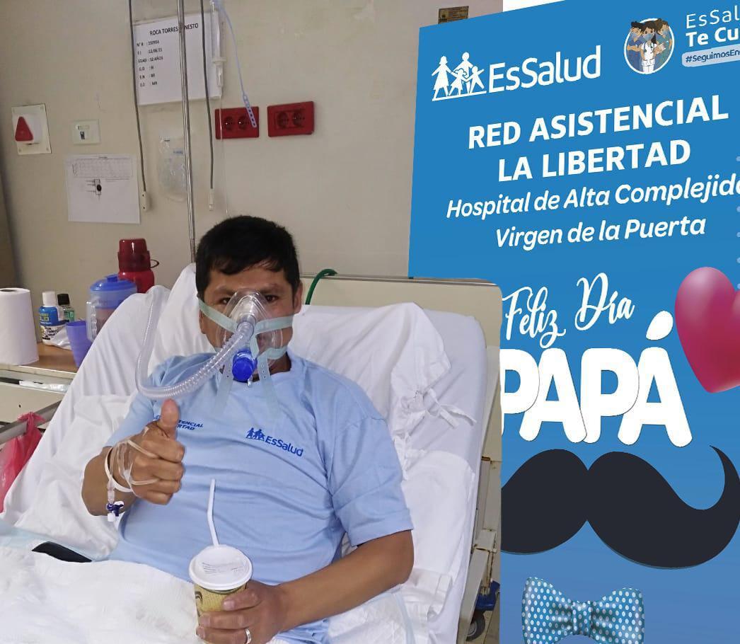 Hospital Virgen de La Puerta de EsSalud La Libertad realizó homenaje a papás que luchan por vencer la Covid-19