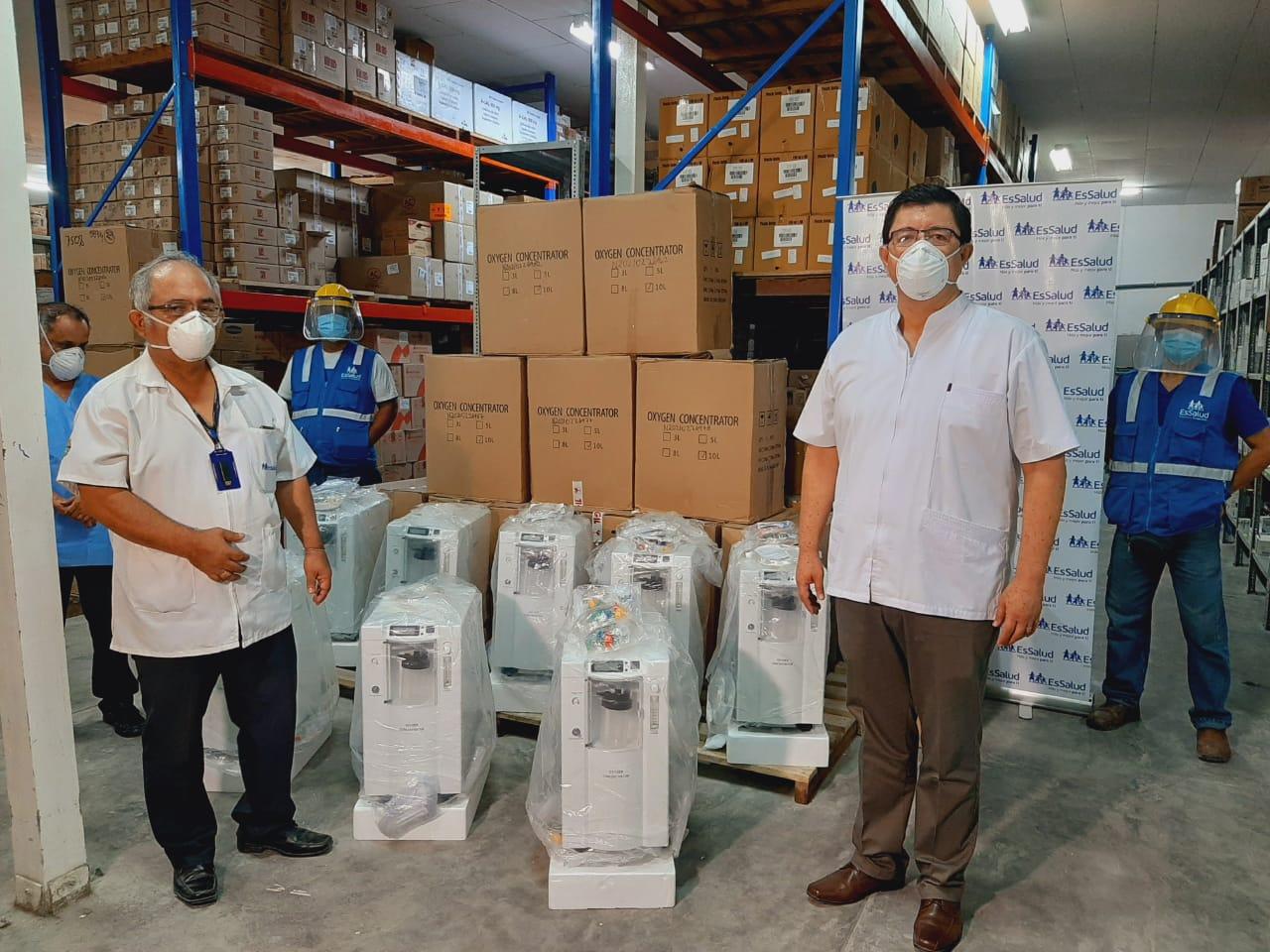 EsSalud Loreto recibe concentradores de oxígeno y ventiladores mecánicos para pacientes Covid-19