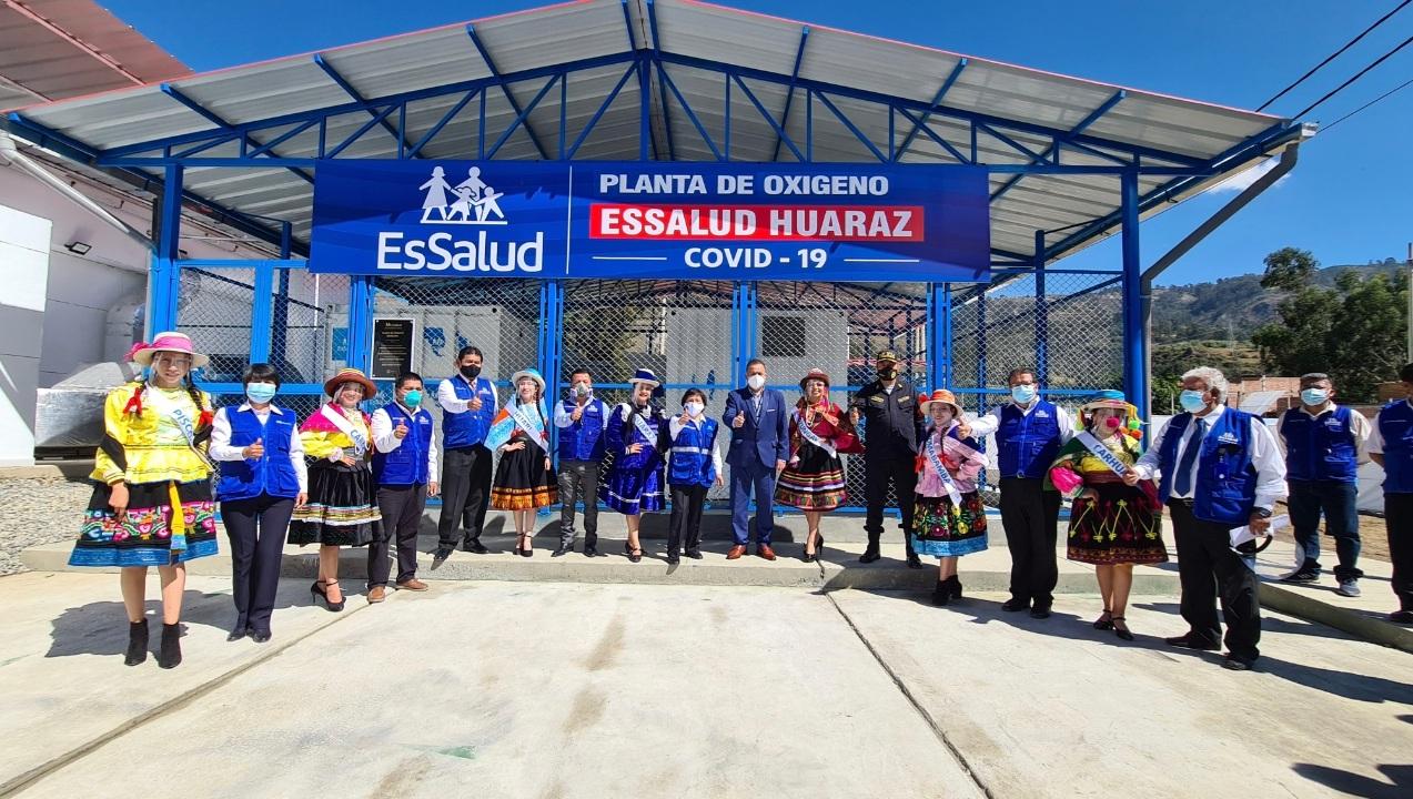 Essalud - EsSalud Huaraz pone en funcionamiento nueva villa para pacientes COVID 19 y 2 plantas de oxígeno para reforzar atención en la región