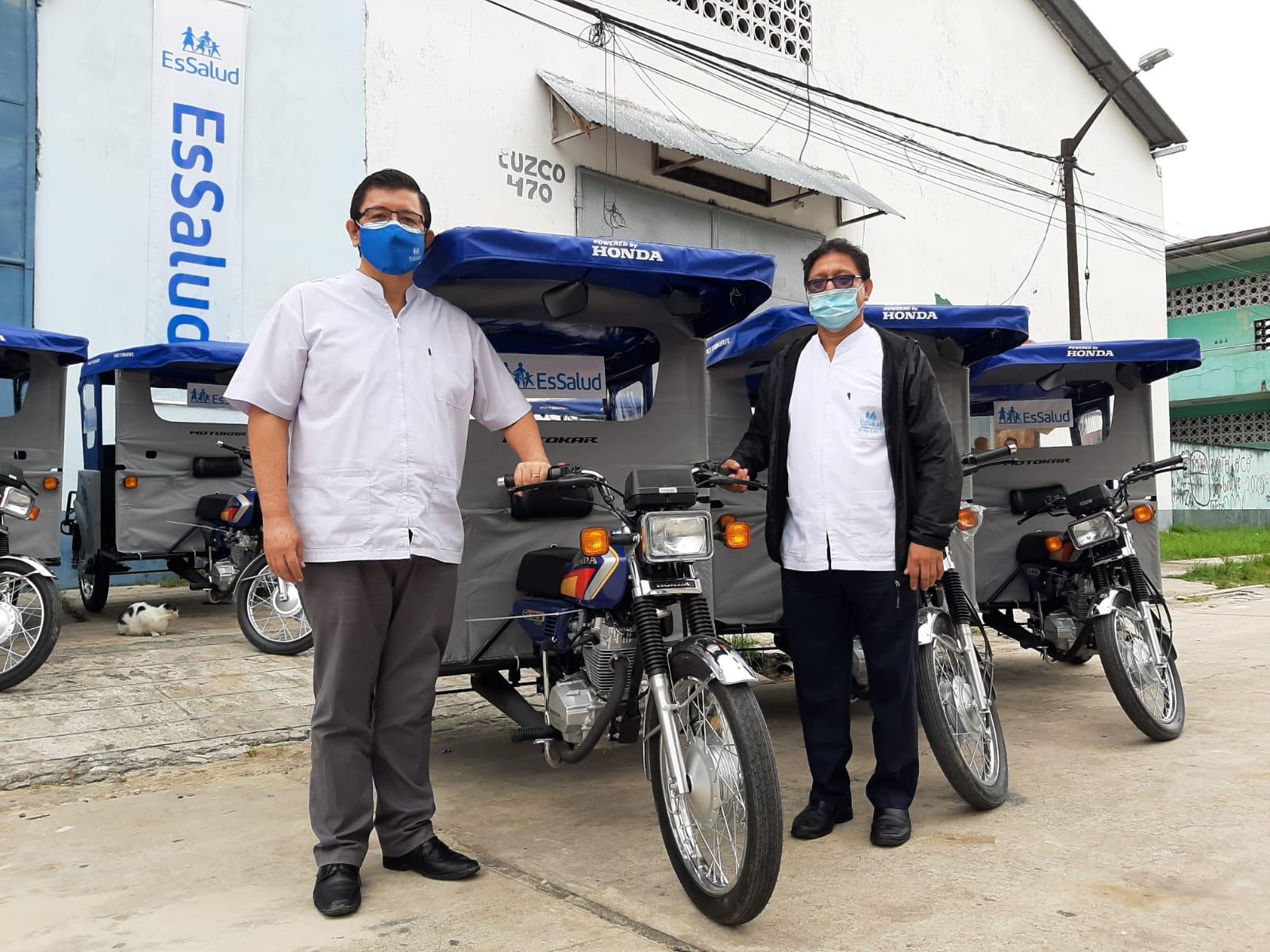 Essalud - EsSalud Loreto pone en marcha los nuevos Motocarros-Padomi para reforzar atención a asegurados que no puedan movilizarse hasta los centros médicos