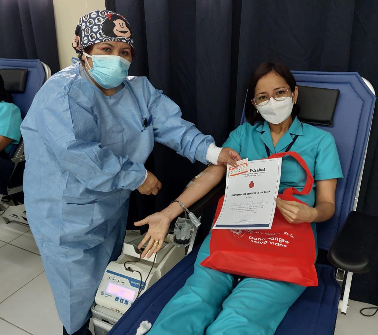 EsSalud Piura: enfermeros de la Red Asistencial Piura se suman a campaña de donación de sangre