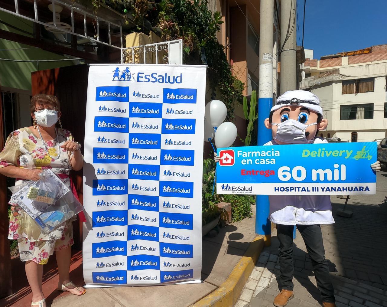 Essalud - EsSalud Arequipa realizó servicio de delivery de medicamentos a 60 mil asegurados adultos mayores y con enfermedades crónicas