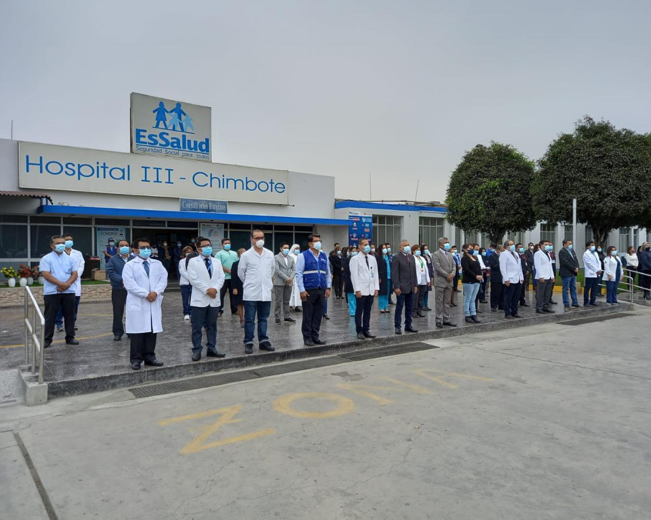 Destacan lucha contra la Covid-19 en 58 aniversario del Hospital III de EsSalud Áncash