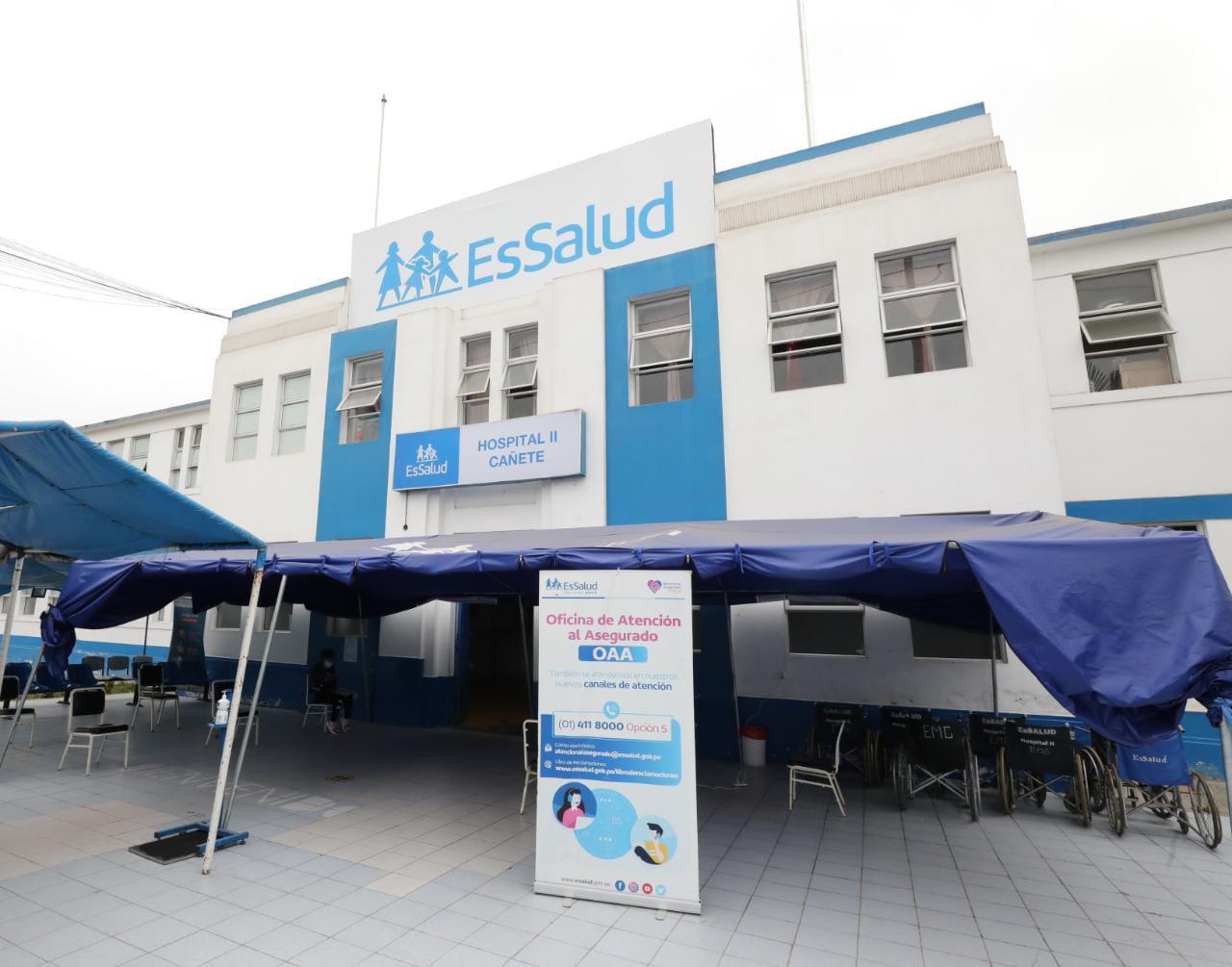 Hospital II Cañete de EsSalud cumple 73 años y reinicia cirugías en beneficio de los asegurados