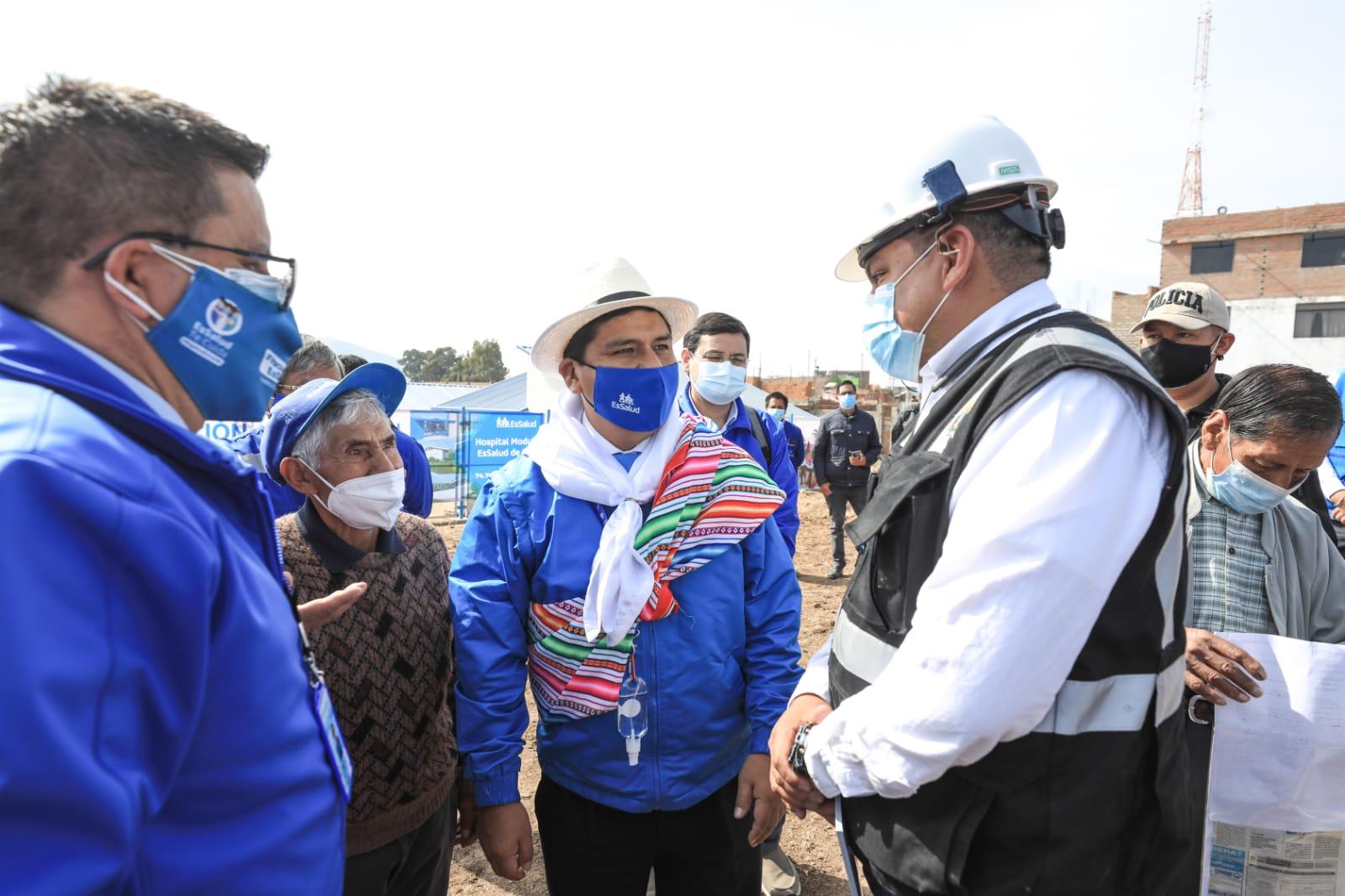 Presidente de EsSalud Mario Carhuapoma supervisará avances de construcción del Hospital Bicentenario de Jauja próximo a ser inaugurado en beneficio de más de 74 mil asegurados
