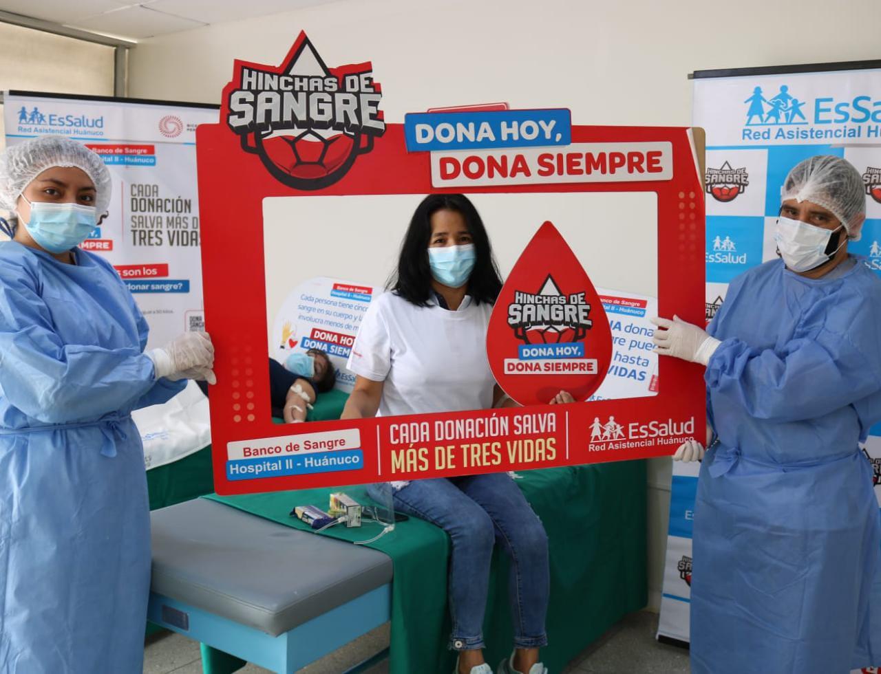 EsSalud Huánuco: un total de 20 trabajadores se sumaron a campaña de donación de sangre
