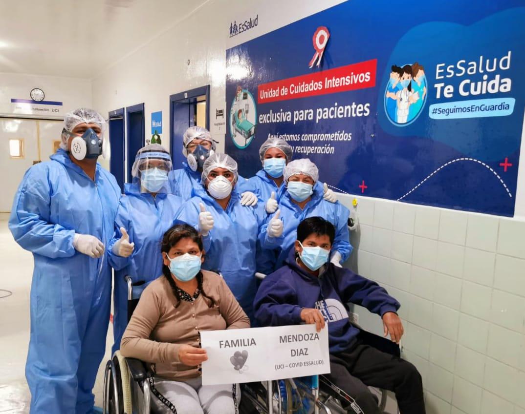 EsSalud Cajamarca reporta altas de pacientes internados en UCI por Covid-19
