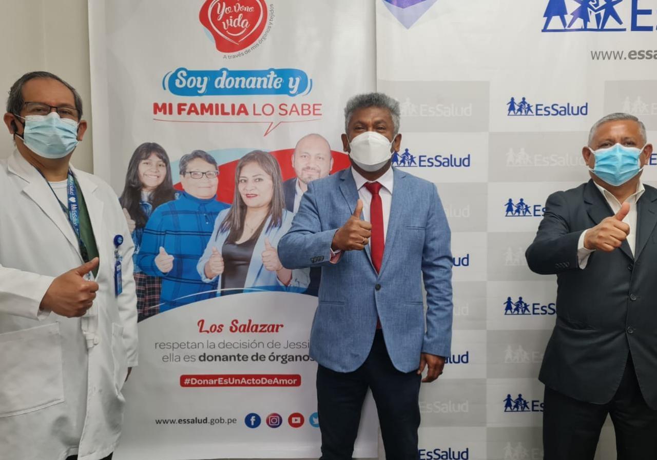 Essalud - EsSalud Áncash se suma a la campaña «Soy donante y mi familia lo sabe» que busca concientizar sobre la importancia de la donación de órganos