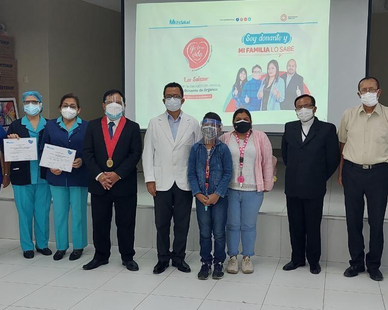 Essalud - EsSalud Piura lanza campaña por la Semana del Donante de Órganos y Tejidos «Soy donante y mi familia lo sabe»