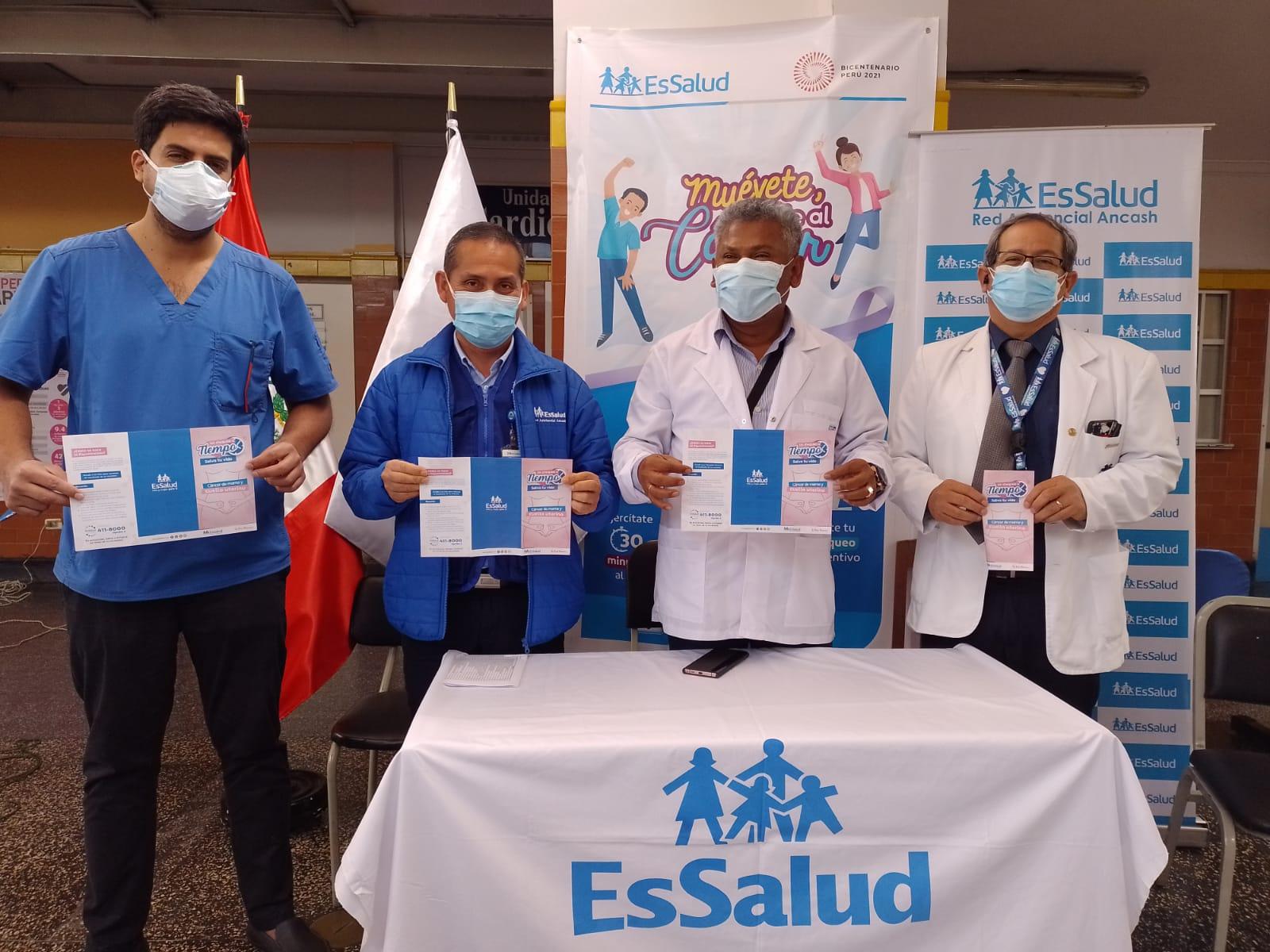 Essalud - EsSalud Áncash organiza bicicleteada contra el cáncer