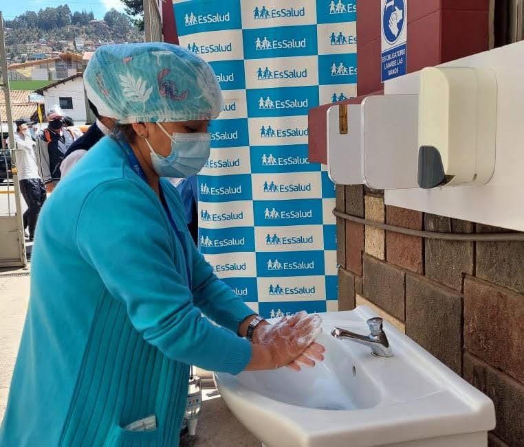 Essalud - EsSalud Cusco promueve el lavado de manos